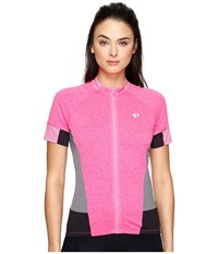 Pearl Izumi Select Escape Short Sleeve Jersey Screaming Pink Parquet Women's Clothing