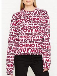Love Moschino All Over Logo Sweater Multi