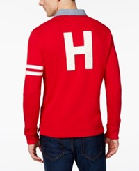 Tommy Hilfiger Men's Richmond Rugby Shirt Bright Red