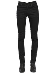 Saint Laurent 15Cm Skinny Cotton Denim Jeans Black