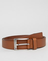 Tommy Hilfiger Aly Leather Belt In Tan Tan Brown