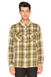 Undefeated Und Plaid Flannel Button Down Green