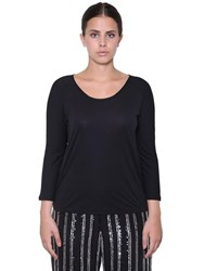 Marina Rinaldi Three Quarter Sleeve Top Black