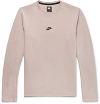 Nike Tech Pack Stretch Jersey Sweatshirt Taupe