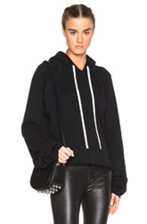 Unravel Fwrd Exclusive Oversize Sleeve Cashmere Hoodie In Black