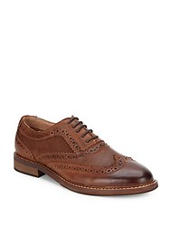 Steve Madden Leather Lace Up Shoes Tan
