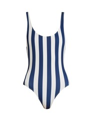 Solid And Striped The Anne Marie Swimsuit Blue Stripe