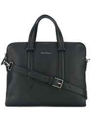 Salvatore Ferragamo Classic Briefcase Men Leather One Size Black
