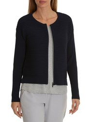 Betty And Co. Ribbed Cardigan Mood Blue