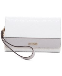Guess Janette Phone Organizer Wallet White Multi