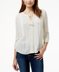 American Rag Lace Back Pintucked Peasant Tunic Blouse Only At Macy's