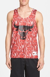 Mitchell Ness 'Chicago Bulls Foul' Reversible Mesh Tank Scarlet