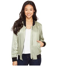 Calvin Klein Jeans Solid Seduction Bomber Sage Women's Coat Green