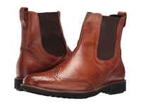 Massimo Matteo Chelsea Wing Boot Havana Men's Pull On Boots Brown