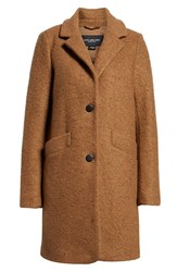 Marc New York Pressed Boucle Coat Camel