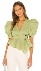 House Of Harlow 1960 X Revolve Jurie Top In Green. Pistachio