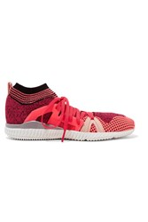 Adidas By Stella Mccartney Crazy Move Bounce Mesh Sneakers Coral