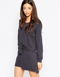 By Zoe By Zoe Ivana Dress With Knot Front Black