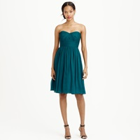 J.Crew Marbella Strapless Dress In Silk Chiffon