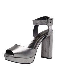 Carrano Fae Metallic Leather Platform Pump Onyx