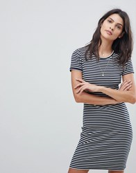 Abercrombie And Fitch Stripe T Shirt Dress Navy White Stripe