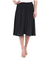 Bobeau Celine Button Front Skirt Navy Women's Skirt