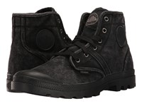 Palladium Pallabrouse Black Metal Men's Lace Up Boots