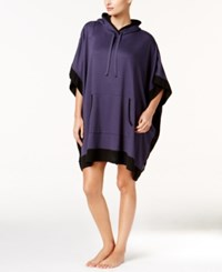 Dkny Resort Hooded Lounge Poncho Purple