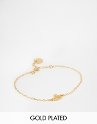 Verity By Alex Monroe Exclusive Heart Bracelet With Set Diamond Gold