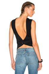Alexander Wang T By Twist Back Tee In Black