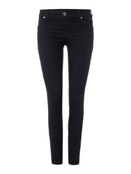 Versace Jeans Skinny Jean With Chain Detail Black