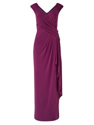 Ariella Ray Gathered Jersey Dress Wine