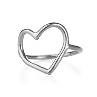 Chupi My Heart Is Open Ring In Silver