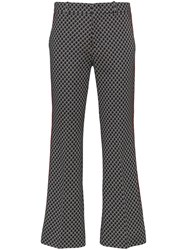 Gucci Gg Print Cropped Flared Trousers 60