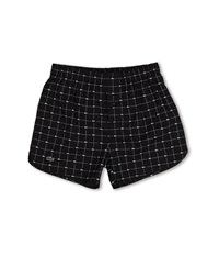 Lacoste Authentics Woven Boxer Croc Boxer Black Men's Underwear