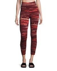 The North Face Motivation Strappy Printed Leggings Red