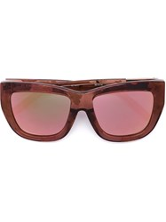 3.1 Phillip Lim Linda Farrow X 3.1 Phillip Lim 'C5' Sunglasses Pink And Purple