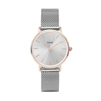 Cluse Minuit Mesh Watch Silver