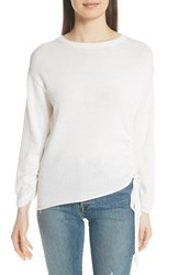 Brochu Walker Jacona Cotton And Cashmere Sweater Alabaster