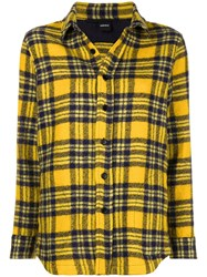 Aspesi Checked Shirt Yellow And Orange