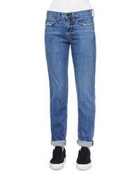 Helmut Lang Lightly Distressed Relaxed Jeans