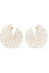 Valentino Garavani Gold Tone Earrings One Size