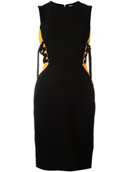 Versace Collection Lace Up Detail Dress Black
