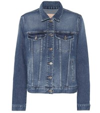 7 For All Mankind Modern Trucker Denim Jacket Blue