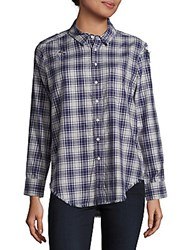 The Blue Shirt Shop Nassau And Manhatta Regular Fit Plaid Navy