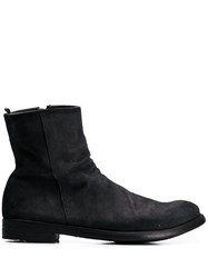 Officine Creative Distressed Ankle Boots Black