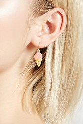 Forever 21 Ice Cream Drop Earrings Pink Yellow