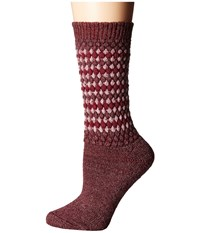 Wigwam Jacy Maroon Women's Crew Cut Socks Shoes Red