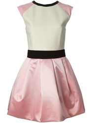 Fausto Puglisi Cap Sleeve Flared Dress Pink