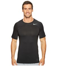 Nike Pro Hypercool Short Sleeve Top Black Black Metallic Hematite Men's Clothing